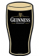 Guinness Pint Glass  Shaped  Die Cut Aluminium sign 430mm x 220mm   (sf)